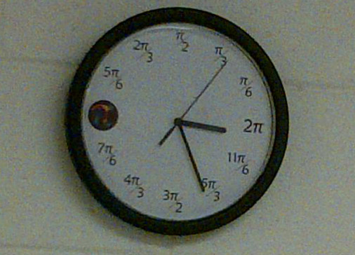 An unreadable clock